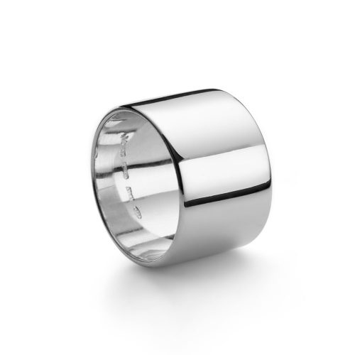 Anello fascia argento