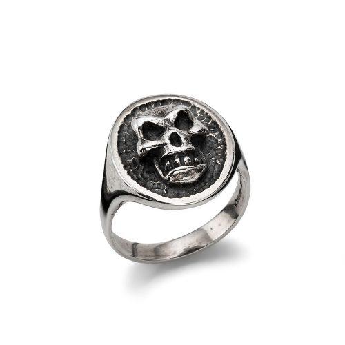 Anello Teschio Argento Chevalier Skull